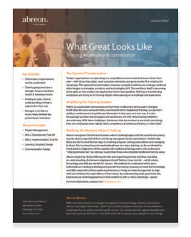 What Great Looks Like Solution Brief
